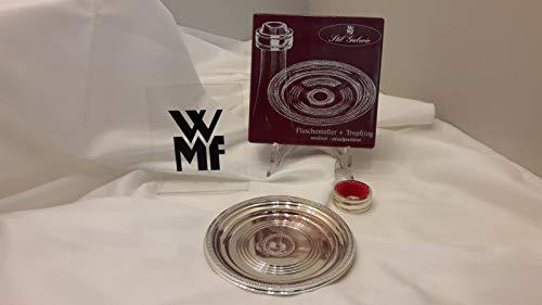 WMF Flaschenuntersetzer 14 cm + Tropfschutz Silber versilbert