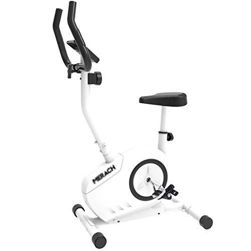 Busirsiz Inicio Silencio paso a paso Spinning control magnético casa en bicicleta bicicleta estática cubierta equipos de gimnasia 110kg portante blanca adelgaza elíptica cinta de correr (Color: blanco