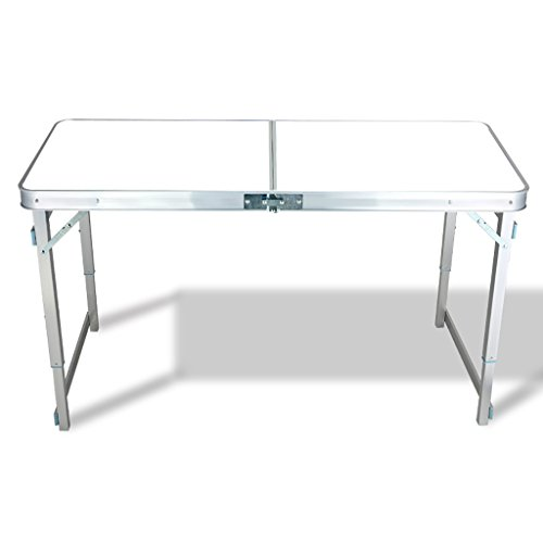 TTZDZ klaptafel, campingtafel, picknicktafel, aluminiumlegering, draagbare klaptafel, party, 120 cm x 60 cm (L & W)