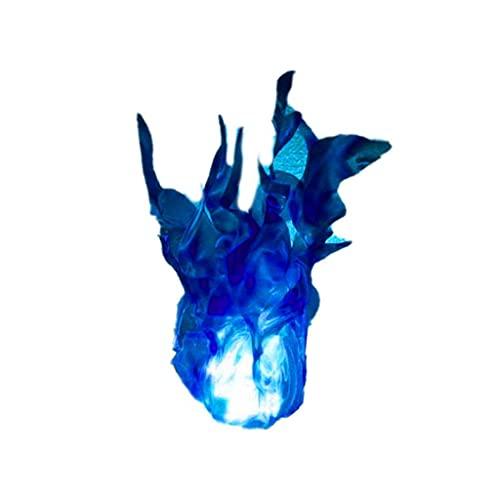 JIUYECAO Halloween fantasma fuego apoyos decoración de la casa, azul hielo Halloween fantasma fuego lámpara al aire libre fiesta de Navidad camping verano campamento Prop luz