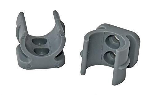 YACHTICON Ersatzclips für Klapptoilette, Farbe:grau