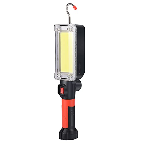 SHiLiPAi Rechargeable Led Work Light Magnetic Portable Drop Light 1200Lumen Worklight COB Cordless Led Work Light Battery Powered For Job Site Lighting,Emergency and Repairing Workshop