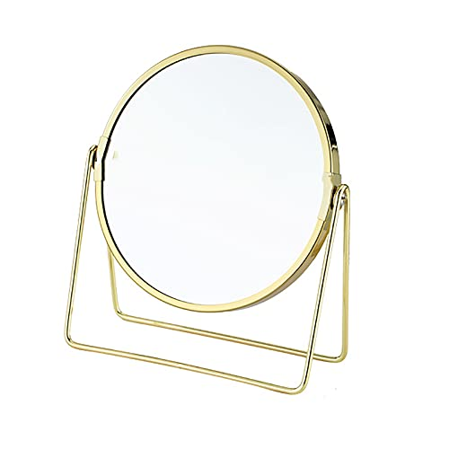 Miroir de maquillage double face avec grossissement x3, haute définition sur pied, rotation à 360 ° pour rasage, pansement, C