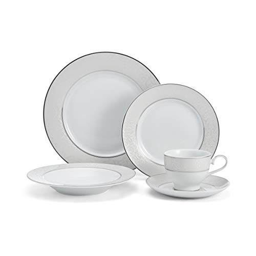 Mikasa 5224232 Parchment White 40-Piece Dinnerware Set, Service for 8
