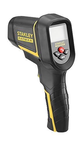 Stanley Fmht0-77422 Détecteur Thermique Gamme FatMax- Détecteur Étanche - Écran LCD Rétroéclairé - Pointeur Laser - Prise De Mesure Sans Contact- Pile 9V