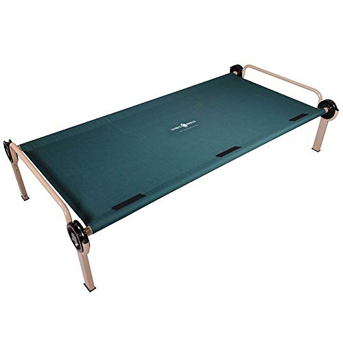 Disc-O-Bed Steel Framed Trundle Cot for XL or 2XL Bunk Systems, Green