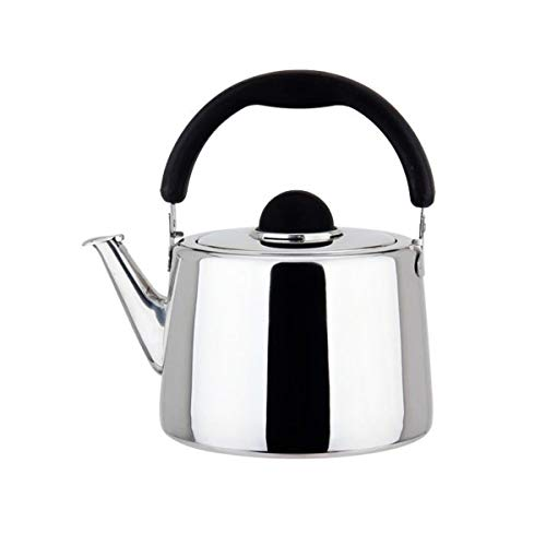 YMSH Stainless Steel Kettle Large Capacity Gas Gas Whistle Kettle Induction Cooker Teapot Thickened Kettle, 4L, 5L, 6L,Silver (Color : Silver, Size : 4L)