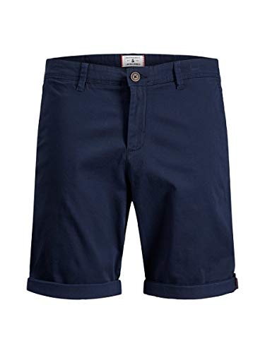 JACK & JONES Herren Jjibowie Jjshorts Solid Sa Shorts, Navy Blazer, L EU