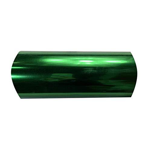 Rijke kleur 1 vel 25cmx25cm Metallic & Laser Heat Transfer Vinyl Camouflage Rainbow opstrijkfolie HTV, groenA008
