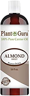 Sweet Almond Oil 16 oz Cold Pressed Carrier 100% Pure Natural For Skin, Body, Face, and Hair Growth Moisturizer. Great For Creams, Lotions, Lip balm and Soap Making