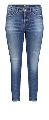 MAC Jeans Damen Skinny Jeans, Blau (Mid Blue Used D554), W40/L30