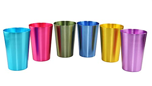 in budget affordable HOME-X set 6-color aluminum cup, non-ferrous metal glass, impact resistance, …