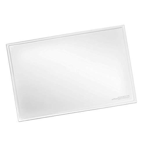 Vade de escritorio transparente grande OFFICE POINT - Gran escritorio con superficie mate para oficina y lugar de trabajo - lavable, antideslizante, mate, 50 x 70 cm