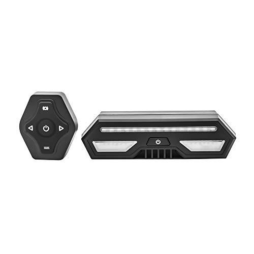 Luz Trasera de Bicicleta Inteligente, USB Recargable Intermitentes Inalámbricos & Luz de...