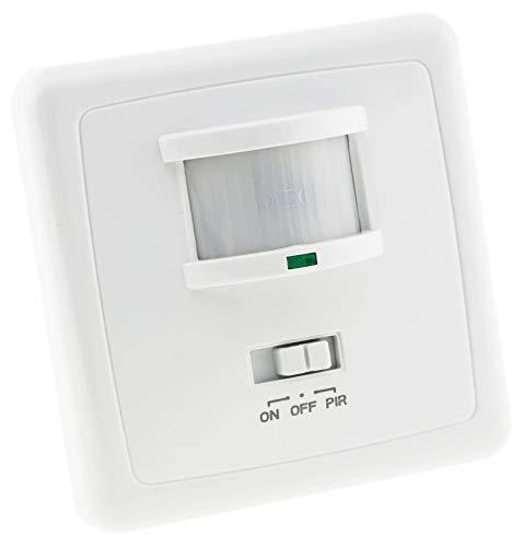 ChiliTec Bewegungsmelder 160° Erfassung Unterputz Einbau 9m Reichweite LED Geeignet 3-Draht Infrarot Sensor UP Montage I Parallel-Schaltung I Weiß