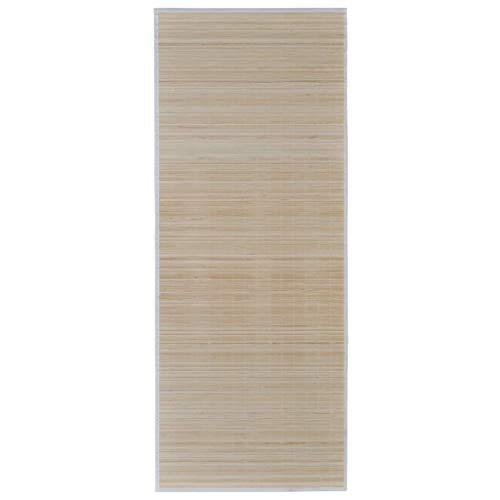 vidaXL Teppich Bambus 160x230cm Natur Bambusteppich Läufer Wohnzimmerteppich