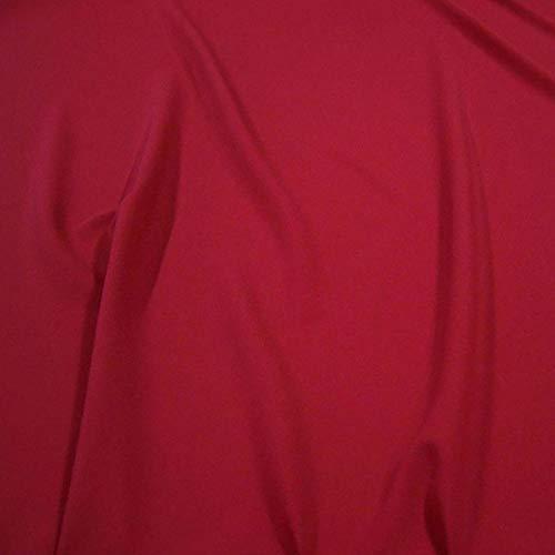 Modestoff / Dekostoff universal Stoff ALLROUND knitterarm - Meterware am Stück (Wein-Rot)