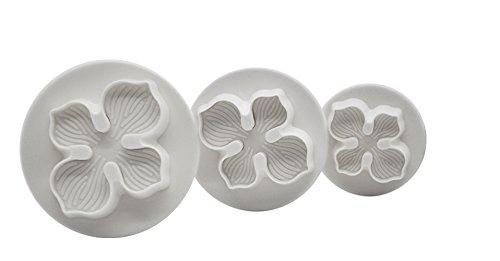 DeColorDulce orchidée Set emporte-pièces avec éjecteur, Blanc, 28 x 10 x 5 cm, Lot de 3