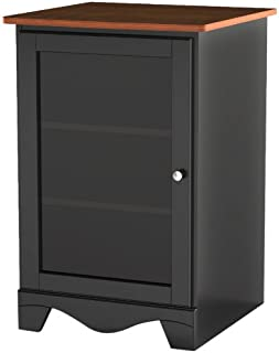 Pinnacle 1-Door Audio Tower 101915 from Nexera - Cherry and Black