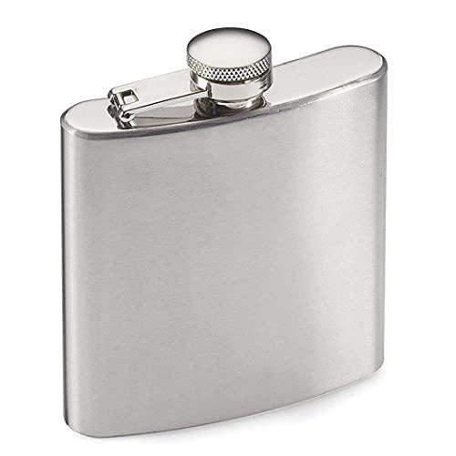 8 oz Whiskey Flask Wodka Alcohol Flask Draagbare Rvs Flesje Lekvrije Pocket Hip Flask voor Mannen Reizen Klimmen Vissen Camping