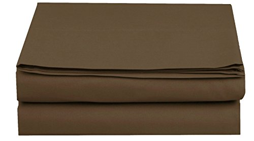 Elegant Comfort Luxury Fitted Sheet on Amazon Wrinkle-Free 1500 Thread Count Egyptian Quality 1-Piece Fitted Sheet, Twin/Twin XL Size, Chocolate Brown