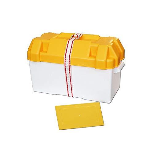 BTK - Caja portapilas Grande de ABS para Barco náutico, hasta 100 Ah, 190 x 400 x 200 cm, con Correa