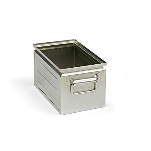 Stapelkasten aus Stahlblech - Inhalt ca. 14 l - verzinkt - Lagerbehälter Lagerbehälter aus Stahl Stahlblech-Stapelkasten Stahlblechkasten Stahlblechkästen Stapelbehälter aus Blech Stapelkasten Stapelkasten aus Stahlblech Stapelkästen Stapelkästen aus