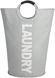 SJZLMB Sac Linge Sale 82L Grand Panier de buanderie portatif avec poignées, Hauteur Sac à Linge Travel Shopping Salle de B...
