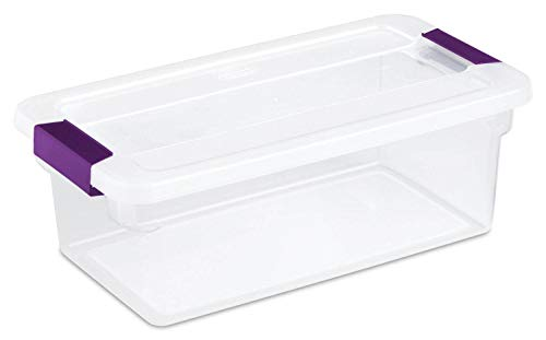 Sterilite 12 Pack 17511712 6-Quart Clearview Latch Box Storage Tote Container