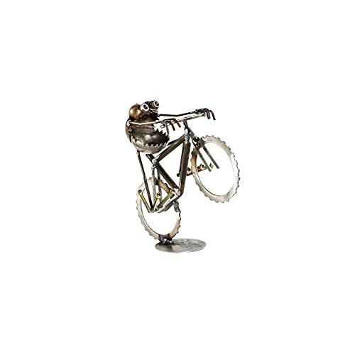 Sugarpost - Metal Sculpture - Gnome Be Gones Mountain Bike Wheelie - Small