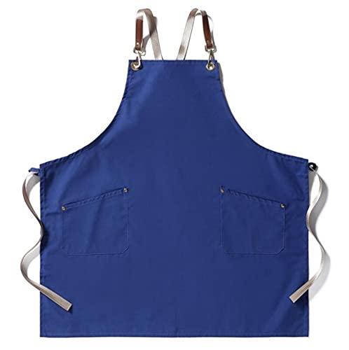 TRABAJO DE COCINA Delantal para hombres Canvas Black Delantal BIB Ajustable Cocina Cocina Delantales delantales para mujer bolsillos para hombre delantal (Color : Army Green, Size : 1 pcs)