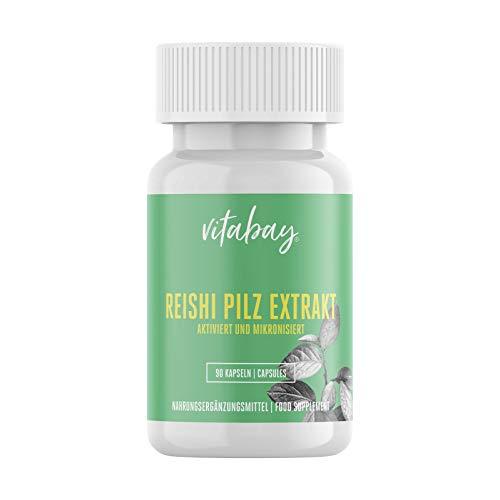 Vitabay Reishi Pilz Extrakt 500 mg • 90 vegane Kapseln • Vitalpilz • 35% aktive Polysaccharide