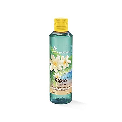 Yves Rocher MONOÏ Dusch-Shampoo Lagune, Hair & Body Shampoo, Duschshampoo für Damen, 1 x Flacon 200 ml