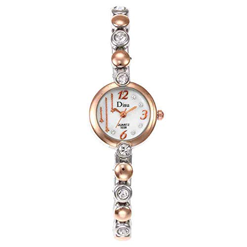 DSNGZ Armbanduhr Neue Legierung Wasser Bohrer Mode lässig aufbau persönlichkeit Armbanduhr mädchen niedlich sternuhr golden weiß