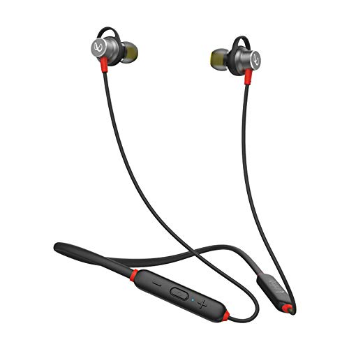 Infinity (JBL) Glide 120 Metal in-Ear Wireless Flex Neckband with Bluetooth 5.0 and IPX5 Sweatproof (Black and Red)