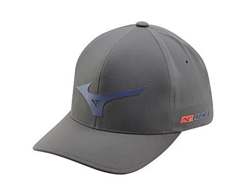 Mizuno Tour Casquette de Golf Delta, Tour Delta, Grey-Navy, Small/Medium (6 3/4'-7 1/4')