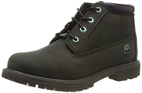 Timberland Nellie Double Waterproof, Zapatillas Chukka para Mujer, Verde (Dark Green Nubuck), 35.5 EU