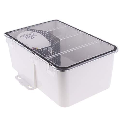 Toygogo 750gph 12V Hebeanlage Abwasserpumpe Haushaltspumpe Fäkalienpumpe Duschpumpe System für WC Dusche oder Boot RV