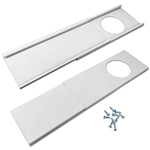Jeacent Window Seal Plates Kit for Portable Air Conditioners, Plastic AC Vent Kit for Sliding Glass Doors and Windows -...
