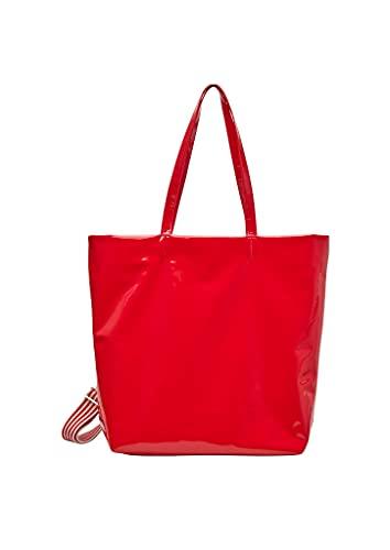 s.Oliver Damen Shopper in Lackleder-Optik red 1