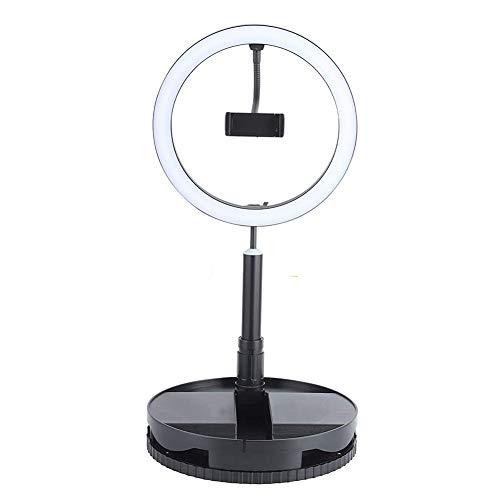 ZXCASD Anillo De Luz Led para Movil, 11,5'' Aro De Luz Ring Light con 3 Modos De Luz 3200-6000K, 240 Bombillas Regulables, Rotación De 360° para Selfie Vlog Youtube