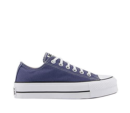 Converse Chuck Taylor All Star Lift - Zapatillas deportivas para mujer, color negro y blanco, Acero Blanco Negro, 37 EU
