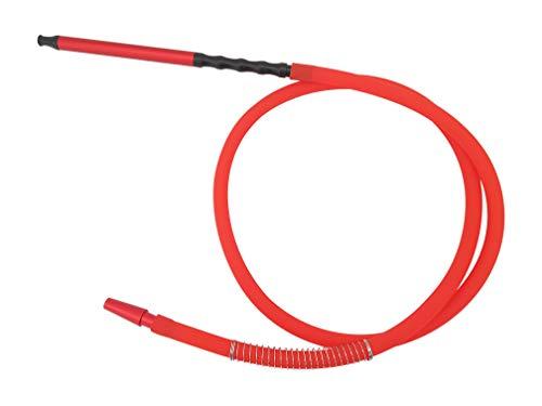 Manguera de silicona para cachimba de 1,49 metros (Modelo N9 roja)