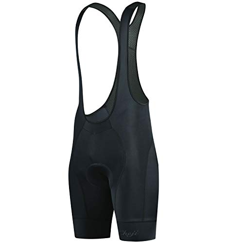 cheji Men's Cycling Bike Bib Shorts, Excellent Performance and Better Fit, More Suitable for Cycling, Black