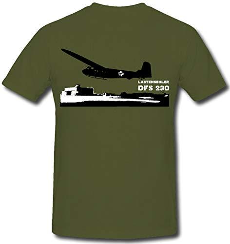 Lastensegler DFS 230 Luftwaffe Luftlandung Glider - T Shirt #65, Farbe:Oliv, Größe:XXL