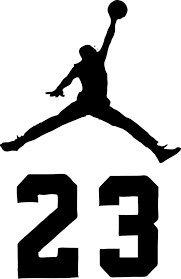 NBA Jordan 23 Jumpman Logo Air Riesiger Vinyl-Aufkleber für Wand, Auto, Zimmer, Fenster 23