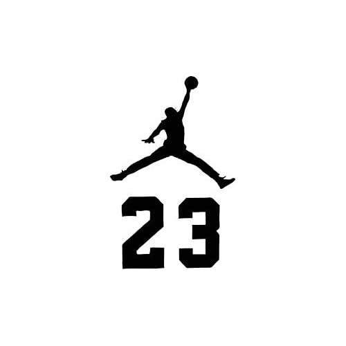 new styles 4a956 78487 NBA Jordan 23 Jumpman Logo AIR Huge Vinyl Decal Sticker for Wall Car Room  Windows (