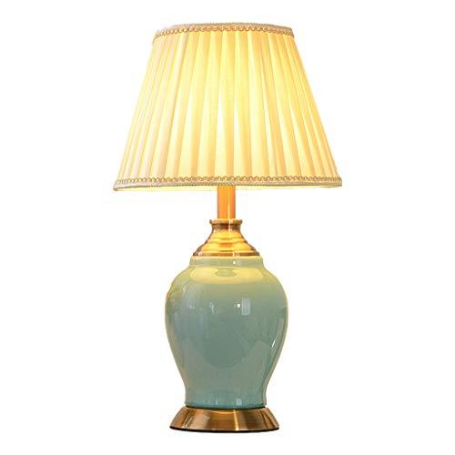 Lámpara de Cabecera American Creative Ceramic Table Lamp Dormitorio Lámpara de cabecera Estudio en casa Salón Lámpara de mesa Cuatro modos de interruptor Múltiples estilos disponibles LLámpara de Noch