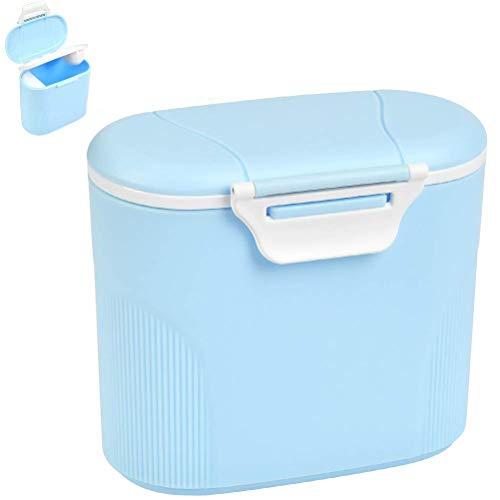 Tragbare Baby Milchpulverbox, 600Ml Luftdichte Milchpulver-Spender, Milchpulver Behälter zur Aufbewahrung von Baby Milchpulver/Obst, BPA frei, Blau