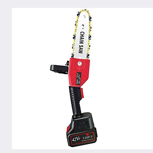 YAG Mini Motosierra eléctrica sin escobillas, Sierra eléctrica portátil inalámbrica de 8 Pulgadas, con batería de Litio Recargable de 42 V, Sierra eléctrica para Cortar Madera de árboles de jardín